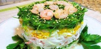 10 цікавих салатів з крабових паличок на Новий рік