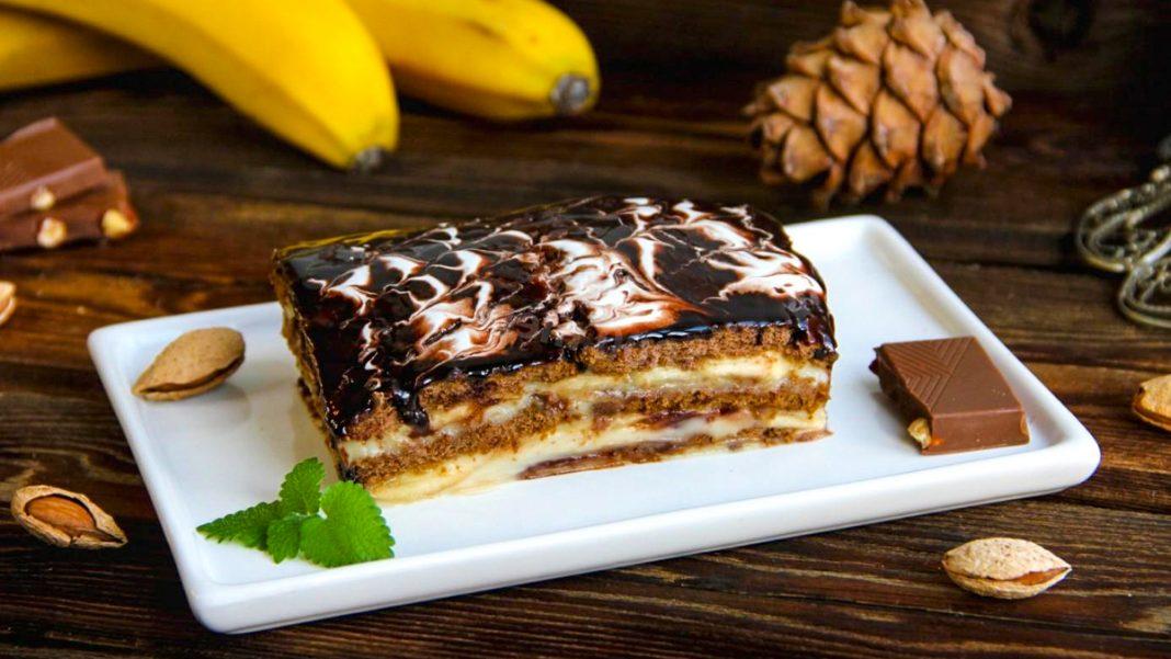 Щастя в шоколаді - банановий торт без випічки
