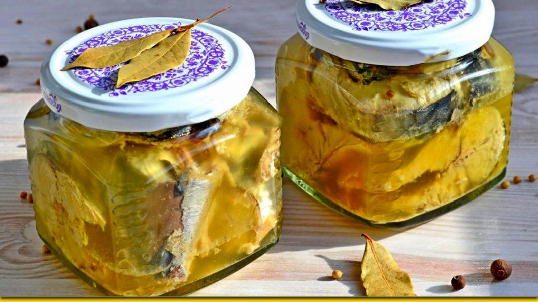 Пряна скумбрія в олії — домашні консерви своїми руками