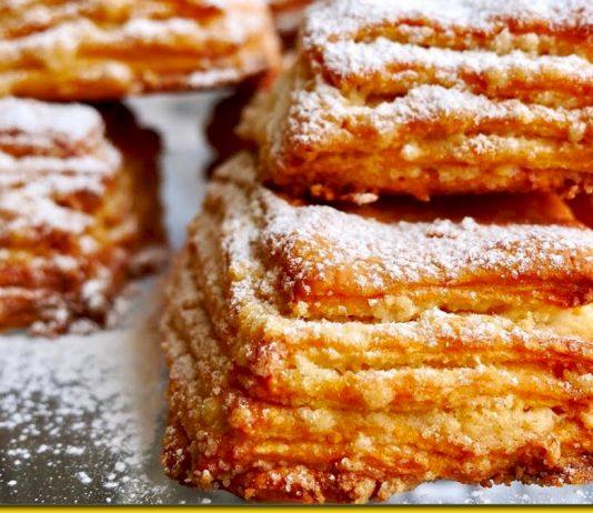 Хрумкі слойки на кефірі — ніжні тістечка від досвідченого кондитера