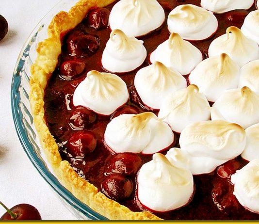 Заливний пиріг Вишневе щастя - душевний десерт