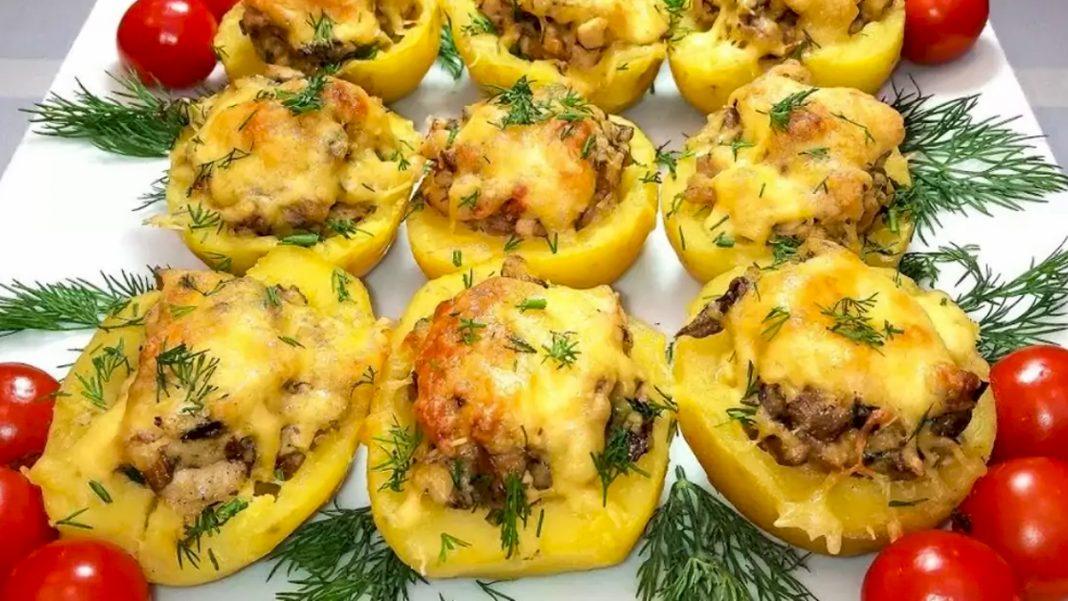 Картопляні човники з соковитою начинкою — швидко і нереально смачно
