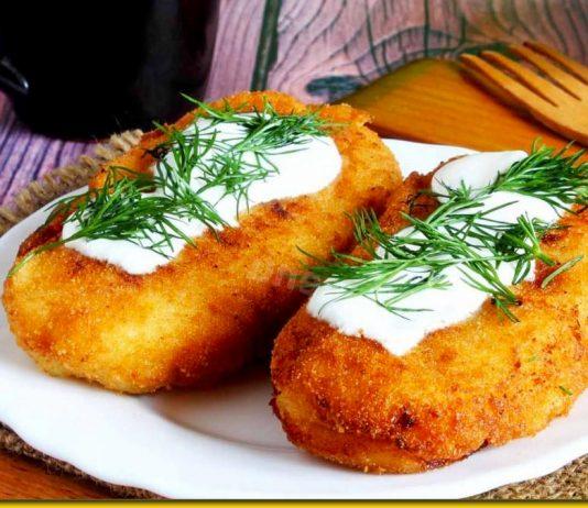 Картопляні зрази з рибкою — хрустке щастя зі сметанкою