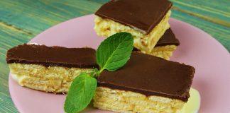 Повітряний торт — еклер без випічки — рецепт простіше не буває